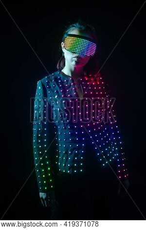 Girl Led Robot Suit Led Clothing Suit Led Suit