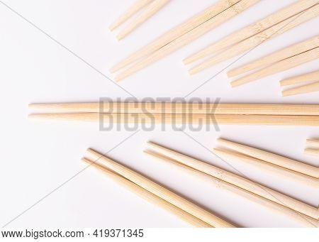 Food Sticks. Lots Of Wooden Chopsticks. Wooden Chopsticks.