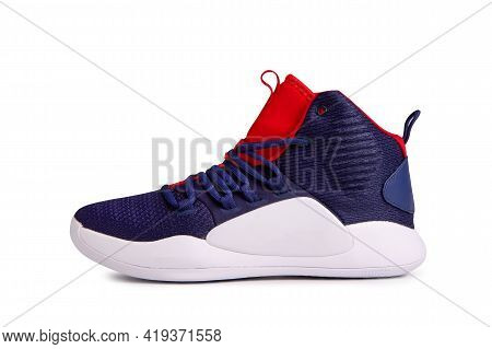 Fashionable Sneakers Isolate On A White Background. Colored Sneakers Close-up. Modern Trendy Sneaker