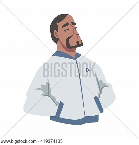 Confident African American Man Standing With His Hands In Pockets, Egoist, Narcissistic Self Love, S