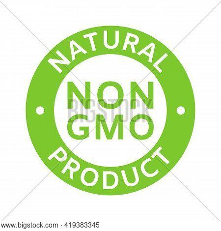 Natural And Organic Cosmetic. Non Gmo Label. Gmo Free Icon. Eco, Vegan, Bio. Healthy Food Concept. N