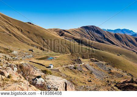 Saint Sorlin Pass Of Col De La Croix De Fer In Savoie In The Rhone Alps In France