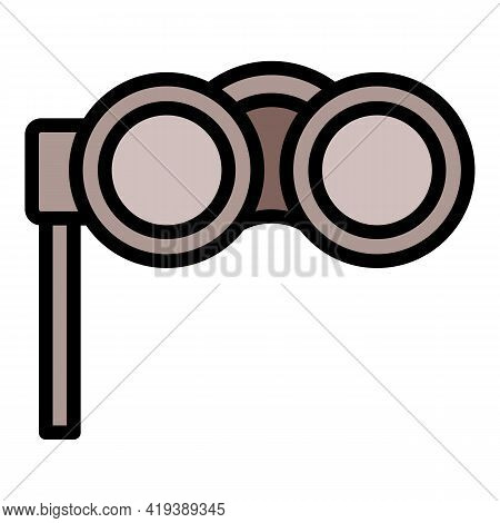 See Binoculars Icon. Outline See Binoculars Vector Icon For Web Design Isolated On White Background