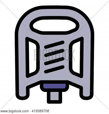 Bike Pedal Icon. Outline Bike Pedal Vector Icon For Web Design Isolated On White Background