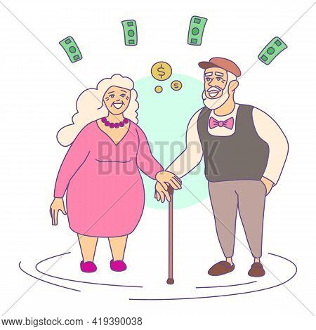 Retirement Compensation Icon. Cartoon And Flat Of Retirement Compensation Vector Icon For Web Design