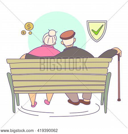 Safe Retirement Icon. Cartoon And Flat Of Safe Retirement Vector Icon For Web Design Isolated On Whi