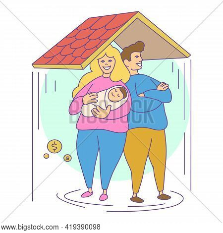 Family Compensation Icon. Cartoon And Flat Of Family Compensation Vector Icon For Web Design Isolate