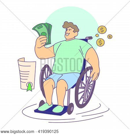 Disability Compensation Icon. Cartoon And Flat Of Disability Compensation Vector Icon For Web Design