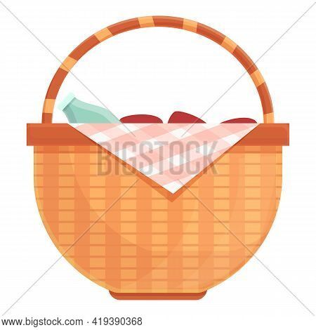 Traditional Basket Icon. Cartoon And Flat Of Traditional Basket Vector Icon For Web Design Isolated