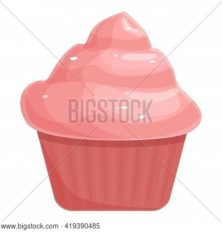 Dessert Muffin Icon. Cartoon And Flat Of Dessert Muffin Vector Icon For Web Design Isolated On White