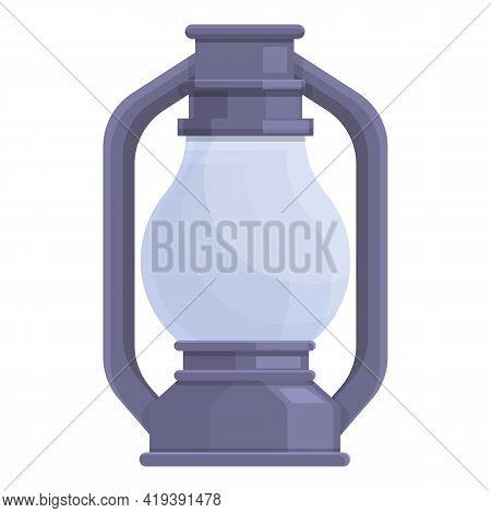 Kerosene Oil Lamp Icon. Cartoon And Flat Of Kerosene Oil Lamp Vector Icon For Web Design Isolated On
