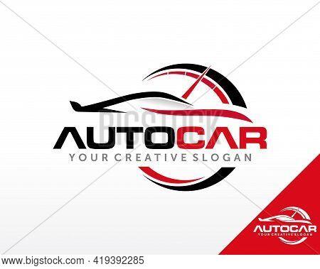 Sport Car Logo Design. Automotive, Car Showroom, Car Dealer Logo Design Vector
