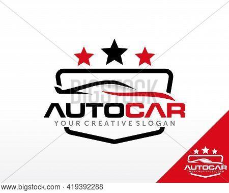 Sport Car Logo Design. Automotiv And Car Dealer Logo Design Vector