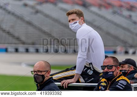 May 01, 2021 - Ft. Worth, Texas, USA: JOSEF NEWGARDEN (2) of the United States prepares to practice for the Genesys 300 at the Texas Motor Speedway in Ft. Worth, Texas.