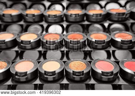Eyeshadow Palette Close Up, Eye Shadows Cosmetics Product As Luxury Beauty Brand Promotion. Fashion
