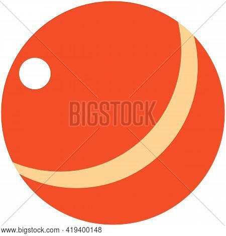 Beach Ball Vector, School Toy For Kids Isolated Icon