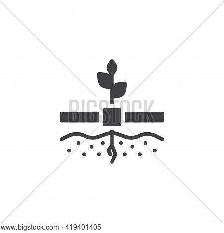 Crop Cultivation Vector Icon. Filled Flat Sign For Mobile Concept And Web Design. Cultivation Farmin