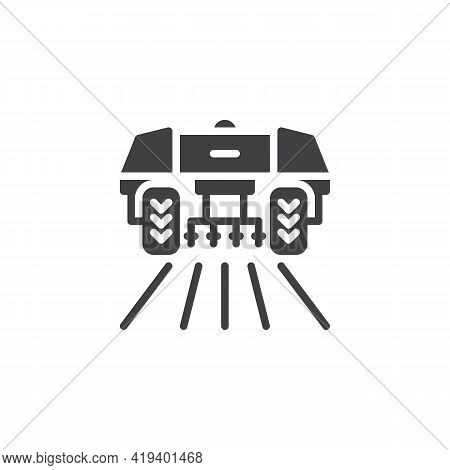 Agricultural Machinery Vector Icon. Filled Flat Sign For Mobile Concept And Web Design. Agricultural