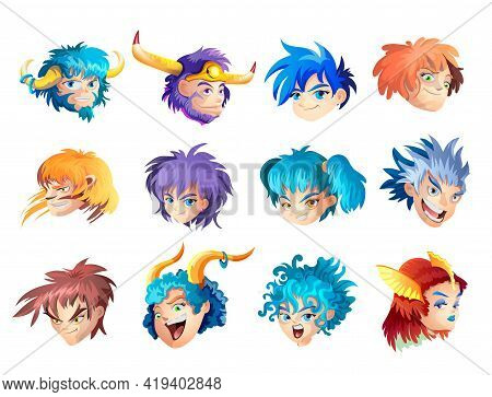Funny Zodiac Signs. Set. Colorful Vector Illustration Of All Zodiac Signs Isolated On White Backgrou