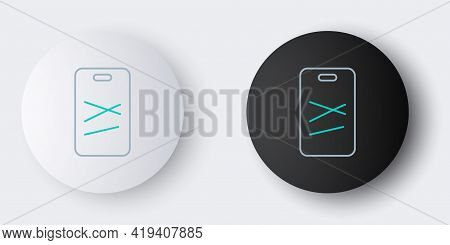 Line Cutting Board Icon Isolated On Grey Background. Chopping Board Symbol. Colorful Outline Concept