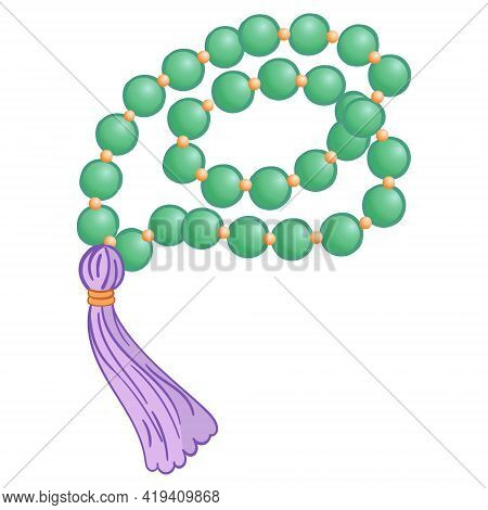 Mineral Bracelet For Health And Wellbeing - Crystal Healing Isolated Vector