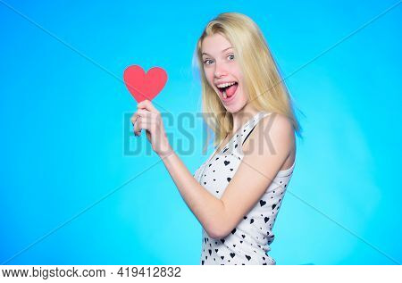 All You Need Is Love. Romantic Greeting. Valentines Day Sales. Woman With Decorative Heart. Date. Ha