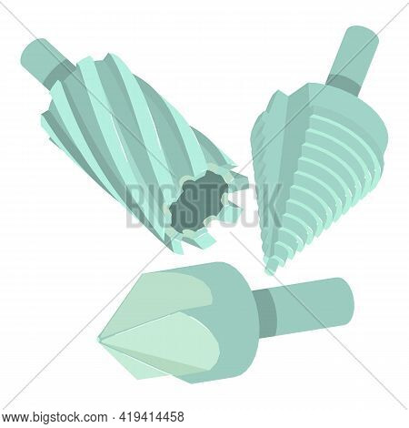 Drill Bit Icon. Isometric Illustration Of Drill Bit Vector Icon For Web