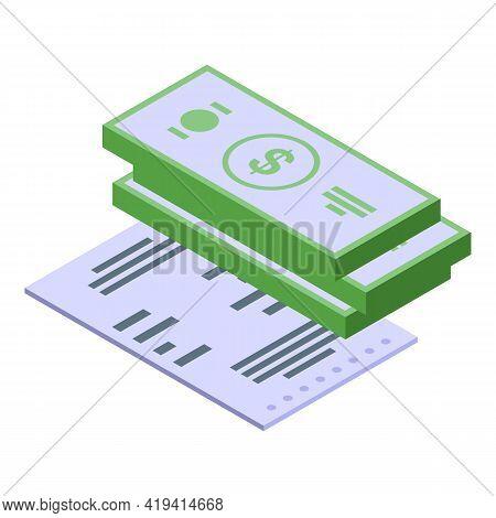 Marketing Budget Icon. Isometric Of Marketing Budget Vector Icon For Web Design Isolated On White Ba