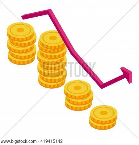 Customers Profit Icon. Isometric Of Customers Profit Vector Icon For Web Design Isolated On White Ba