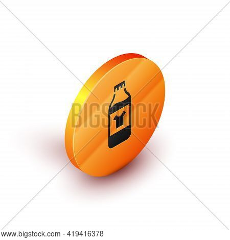 Isometric Plastic Bottle For Laundry Detergent, Bleach, Dishwashing Liquid Or Another Cleaning Agent