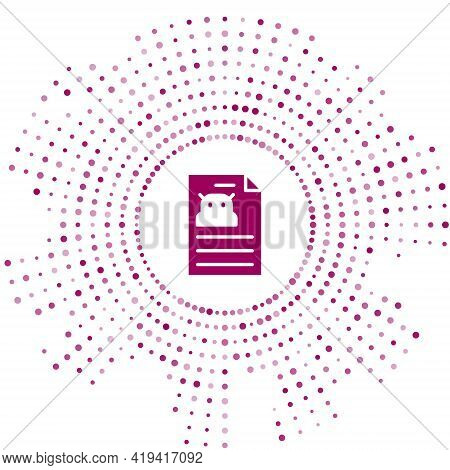 Purple Technical Specification Icon Isolated On White Background. Technical Support Check List, Team