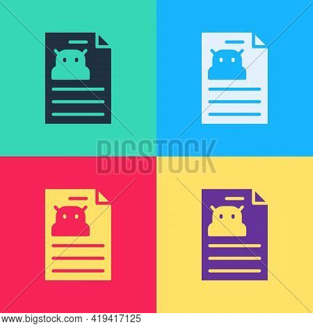 Pop Art Technical Specification Icon Isolated On Color Background. Technical Support Check List, Tea