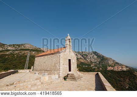 Church Sveti Savva Near Island Sveti Stefan