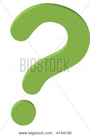 The Green 3D Question Mark Icon Logo