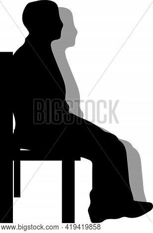 Waiting Icon On White Background , Vector, Wait, Waiting