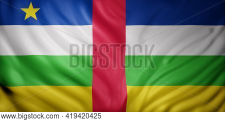 3d Rendering Of A National Central African Republic Flag.