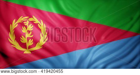 3d Rendering Of A National Eritrea Flag.