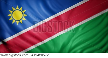 3d Rendering Of A National Namibia Flag.