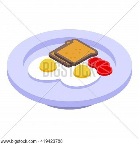 Breakfast Time Icon. Isometric Of Breakfast Time Vector Icon For Web Design Isolated On White Backgr