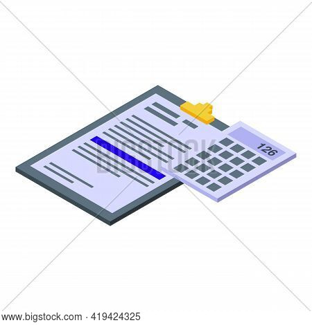 Document Assistant Icon. Isometric Of Document Assistant Vector Icon For Web Design Isolated On Whit