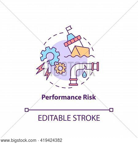 Performance Risk Concept Icon. Purchase Risk Factor Idea Thin Line Illustration. Functional Loss. Pr