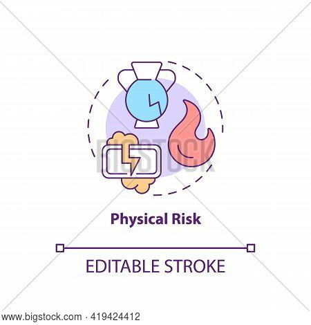 Physical Risk Concept Icon. Purchase Risk Factor Idea Thin Line Illustration. Causing Bodily Harm To