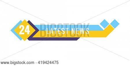 Breaking news. Lower third TV news bar  illustration. Live news. Banner for broadcasting television video template. Streaming news sign