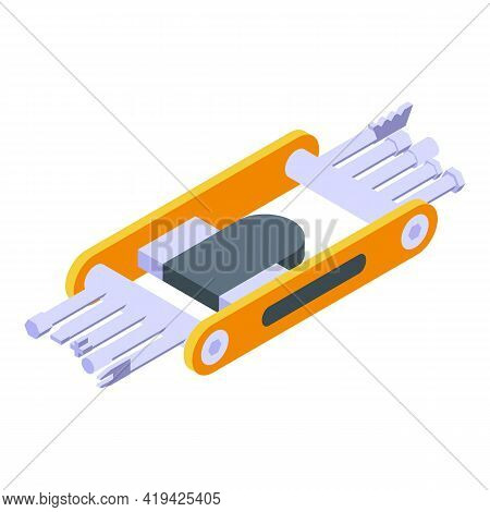 Penknife Instrument Icon. Isometric Of Penknife Instrument Vector Icon For Web Design Isolated On Wh