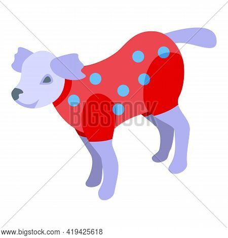 Dog Sweater Icon. Isometric Of Dog Sweater Vector Icon For Web Design Isolated On White Background