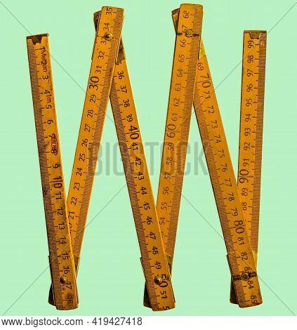 Carpenter Ruler Foldable Meter Dm Cm Mm