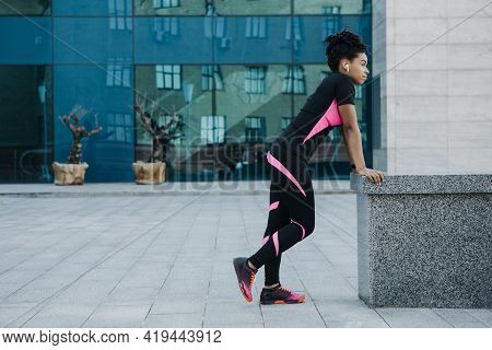 Vitality, Wellness And Sports In City, Jogging And Urban Workout