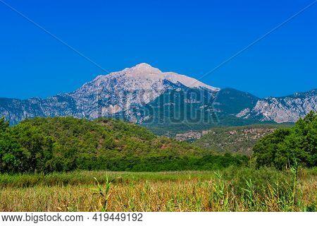 Mount Tahtali Dagi In Turkey On A Sunny Summer Day
