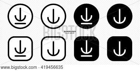 Download Icon Pack For Apps, Websites And Other Internet Resources. Arrow Icon In A Frame. Set Of Ve