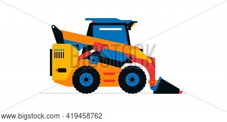 Construction Machinery, Compact Excavator, Loader, Mini Tractor. Commercial Vehicles For Work On The